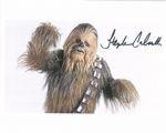 Stephen Calcutt -STAR WARS Chewbacca -stand in Genuine Signed Autograph 10x8 COA 10125
